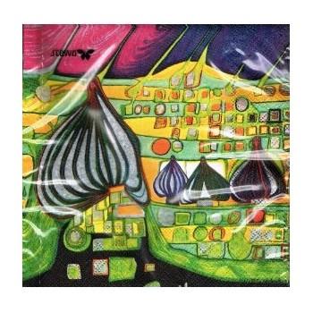 Χαρτοπετσέτα για Decoupage, Land in Gelb / 2572-9957-99