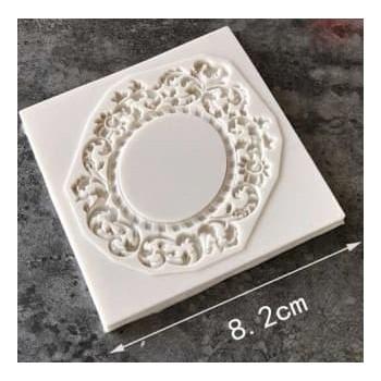 Καλούπι Σιλικόνης 8.2 x 8 x 0.6cm, 3D Antique Mirror Frame / SM0280