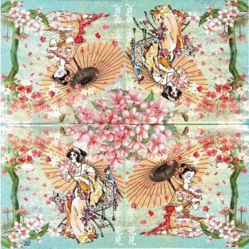 Χαρτοπετσέτα για Decoupage, Hanami / LU221421