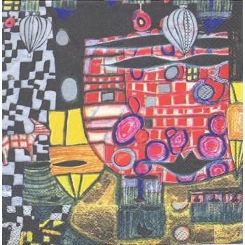Χαρτοπετσέτα για Decoupage, König der Antipoden / 2572-9956-99