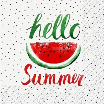 Χαρτοπετσέτα για Decoupage, Hello Summer / 2572-6708-20