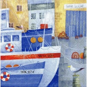 Χαρτοπετσέτα για Decoupage, Boat House / 370010