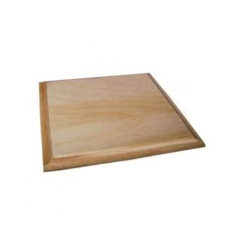 Ξύλινη Τετράγωνη επιφάνεια (με πατούρα) 8x8cm για σουβέρ ή πυρογραφία