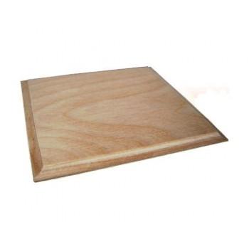 Ξύλινη Τετράγωνη επιφάνεια (με πατούρα) 12x12cm για σουβέρ ή πυρογραφία