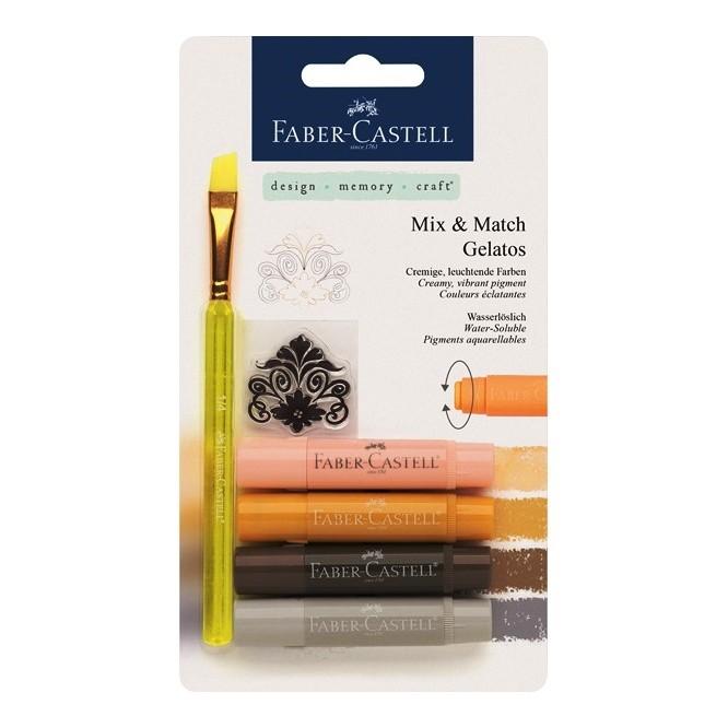 Σετ Gelatos Faber Castell (4τεμ + Πινέλο) Skin
