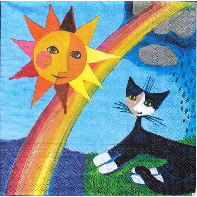 Χαρτοπετσέτα για Decoupage, Cat Sun & Rain / 2572-6491-40
