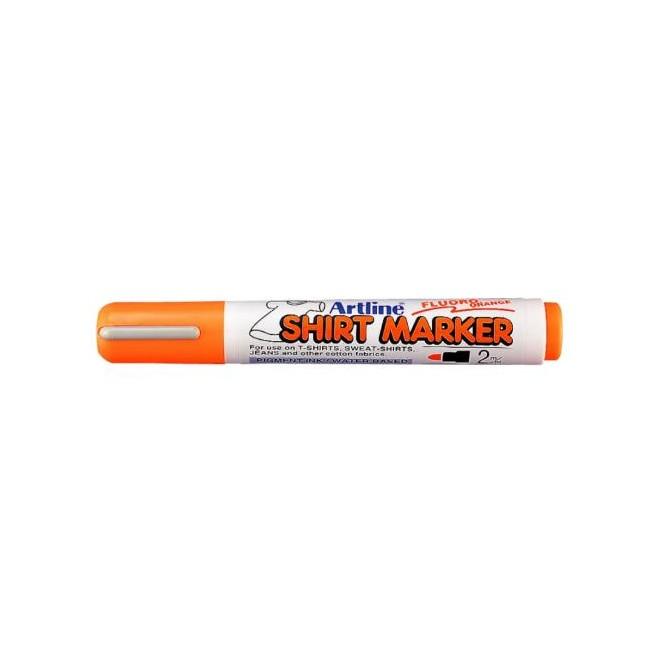 Μαρκαδόροι Υφάσματος Artline T-Shirt marker EK-2 (2mm, Φθορίζον Πορτοκαλί)