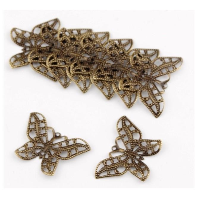 Butterfly Bronze 32x23mm