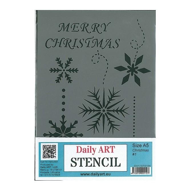 Στένσιλ (Stencil) DailyArt 14x20cm, Christmas / DA17ST0154