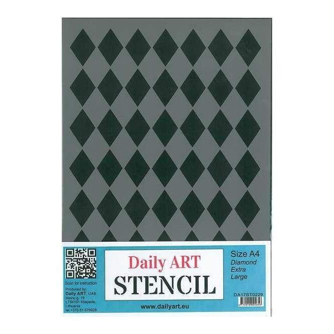 Στένσιλ (Stencil) A4, Diamond Extra Large / DA17ST0229