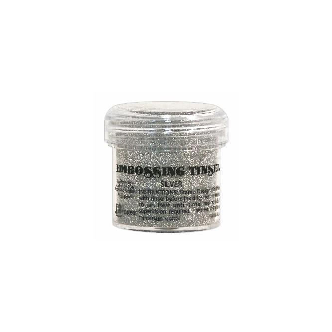 Σκόνη Embossing Tinsels Silver 23gr