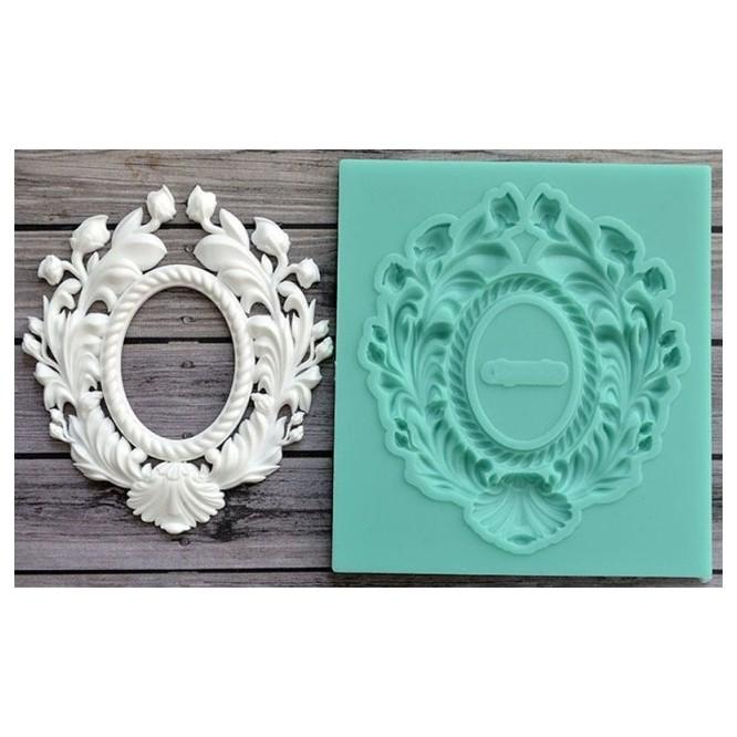 Καλούπι Σιλικόνης 8 x 7.2 x 0.6cm, 3D Antique Mirror Frame