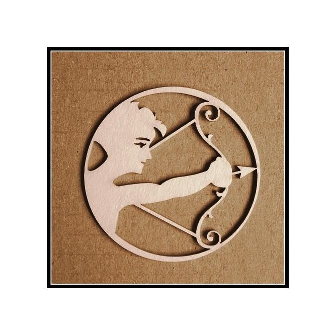 Διακοσμητικά Chipboard ( ø 5,5cm)