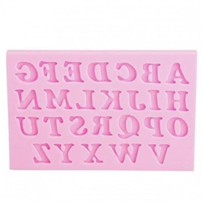 Καλούπι Σιλικόνης 9,5x6x0,9cm, Λατινικά Κεφαλαία Γράμματα