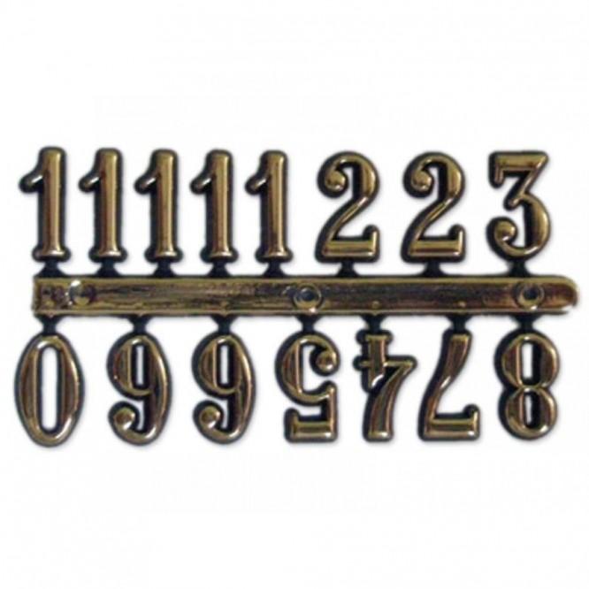 Πλαστικοί Αυτοκόλλητοι Αριθμοί Ρολογιού Antique Gold (ύψος 15mm)