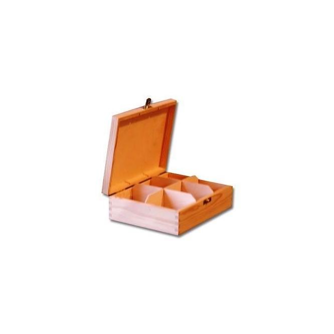 Ξύλινο Κουτί με 6 θήκες, 21,5*16*7,8cm