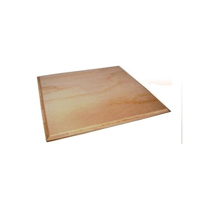 Ξύλινη Τετράγωνη επιφάνεια (με πατούρα) 16x16cm για σουπλά ή πυρογραφία