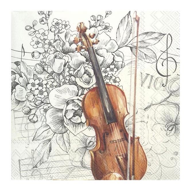 Χαρτοπετσέτα για Decoupage, BELLA MUSICA / L-804900