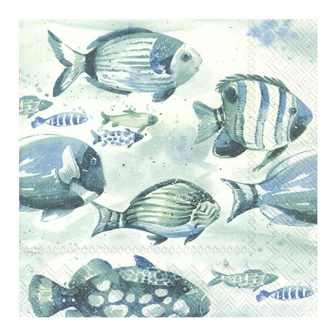 Χαρτοπετσέτα για Decoupage, AQUAWORLD FISH / L-871100
