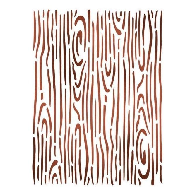Στένσιλ (Stencil) Stamperia 21x29.7cm, Εφέ Ξύλου / KSD287