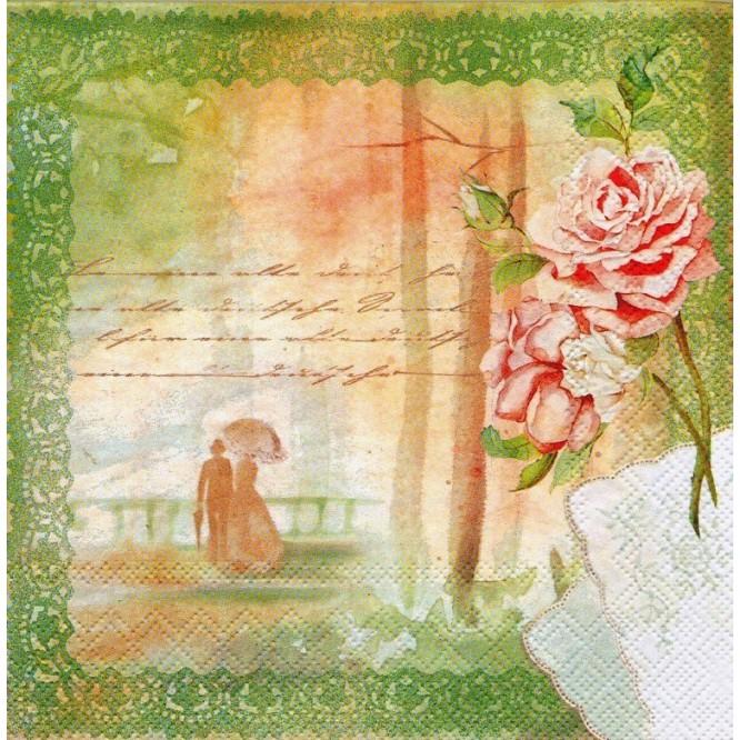 Χαρτοπετσέτα για Decoupage, Romance / LU131225