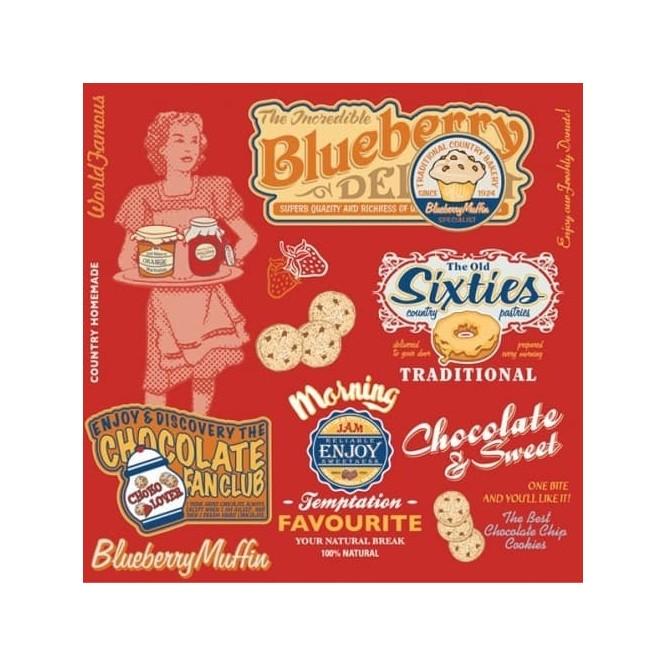 Χαρτοπετσέτα για Decoupage, American Vintage Food / SLOG036601