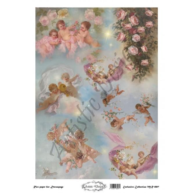 Ριζόχαρτο Artistic Design για Decoupage 30x40cm, Little Angels / MR007