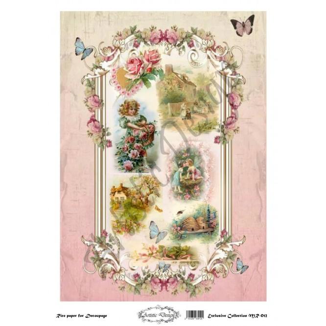 Ριζόχαρτο Artistic Design για Decoupage 30x40cm, Vintage Valentine / MR012