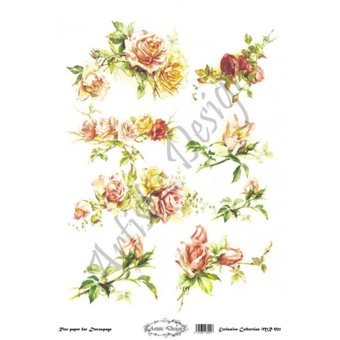 Ριζόχαρτο Artistic Design για Decoupage 30x40cm, Roses / MR021