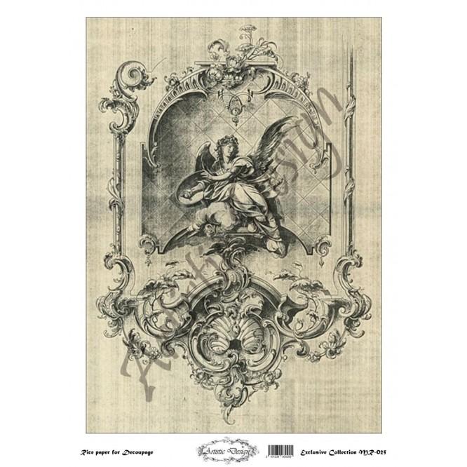Ριζόχαρτο Artistic Design για Decoupage 30x40cm, Vintage frame / MR025
