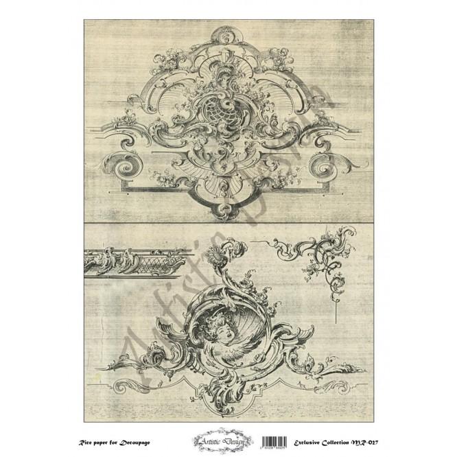 Ριζόχαρτο Artistic Design για Decoupage 30x40cm, Vintage frame / MR027