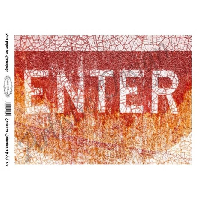 Ριζόχαρτο Aristic Design για Decoupage A4, Enter / MRS279