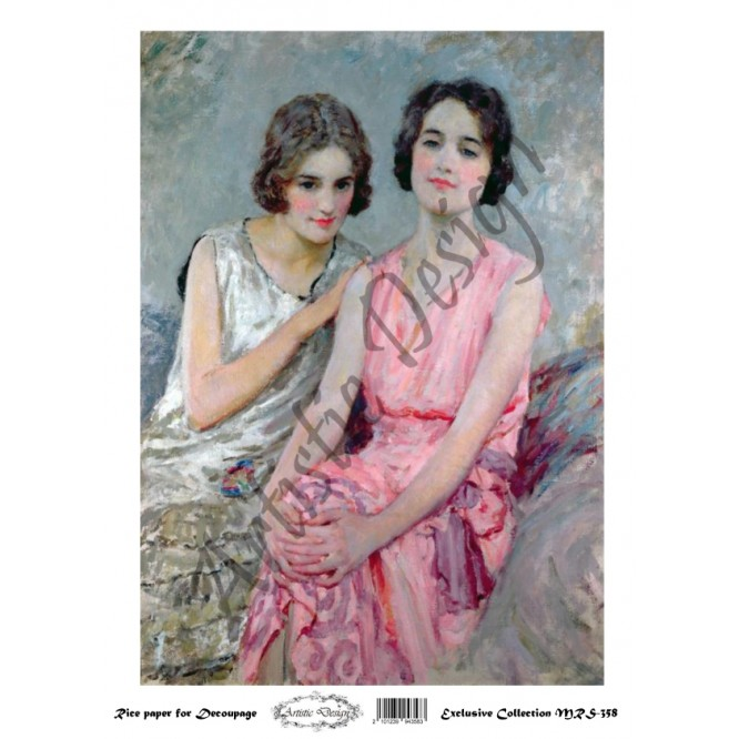 Ριζόχαρτο Artistic Design για Decoupage A4, Vintage Ladies / MRS358
