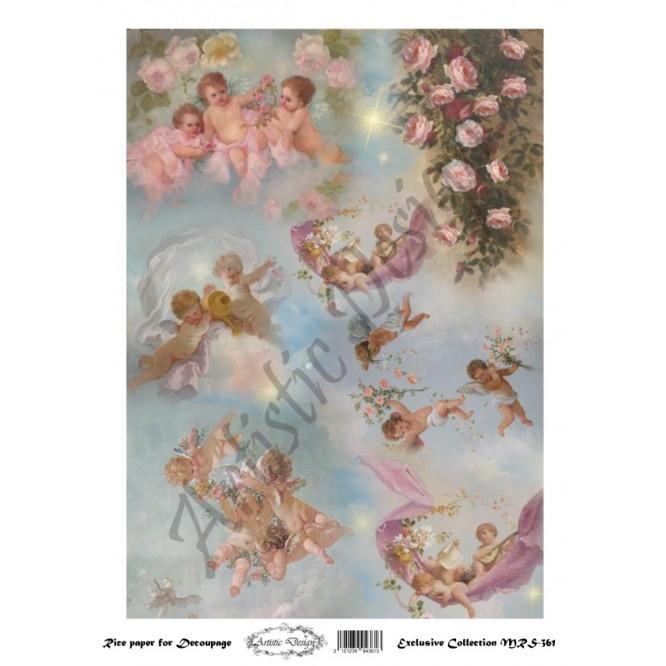 Ριζόχαρτο Artistic Design για Decoupage A4, Little Angels / MRS361