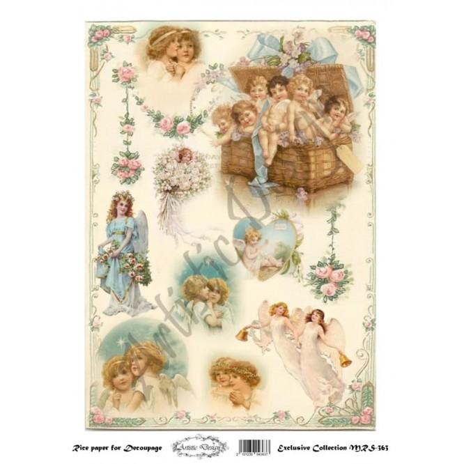 Ριζόχαρτο Artistic Design για Decoupage A4, Little Angels / MRS363