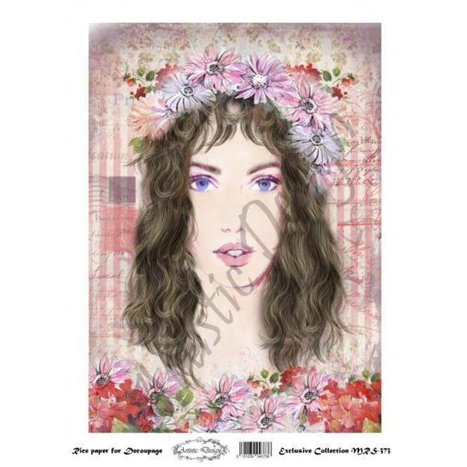 Ριζόχαρτο Artistic Design για Decoupage A4, Portrait (Πρόσωπο Γυναίκας) / MRS373