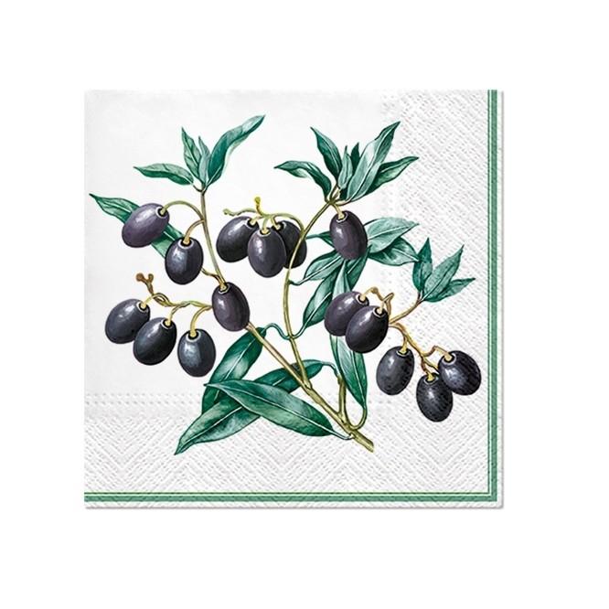 Χαρτοπετσέτα για Decoupage, Olives with Frame / SDL125100