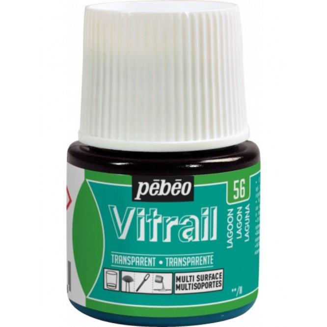 Pebeo Vitrail Trasparent Colour (Διάφανo σμάλτo διαλύτη) 45ml, Lagoon