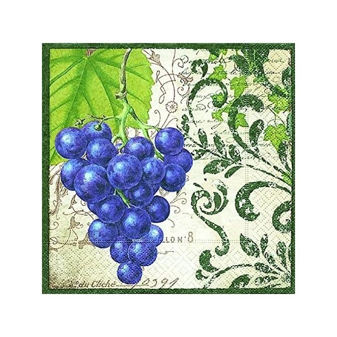 Χαρτοπετσέτα για Decoupage, Bunch of grapes / PD-200085