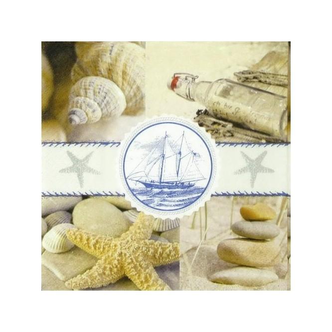 Χαρτοπετσέτα για Decoupage, Souvenirs of the sea / PD-21855