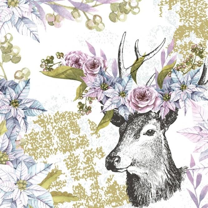 Χαρτοπετσέτα για Decoupage, Dreamy deer / 600283