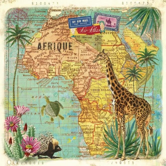 Χαρτοπετσέτα για Decoupage, Travel to Africa / 133-1366