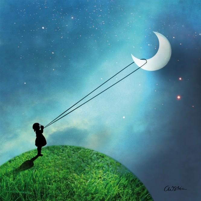 Χαρτοπετσέτα για Decoupage, Chasing the Moon / 133-2681
