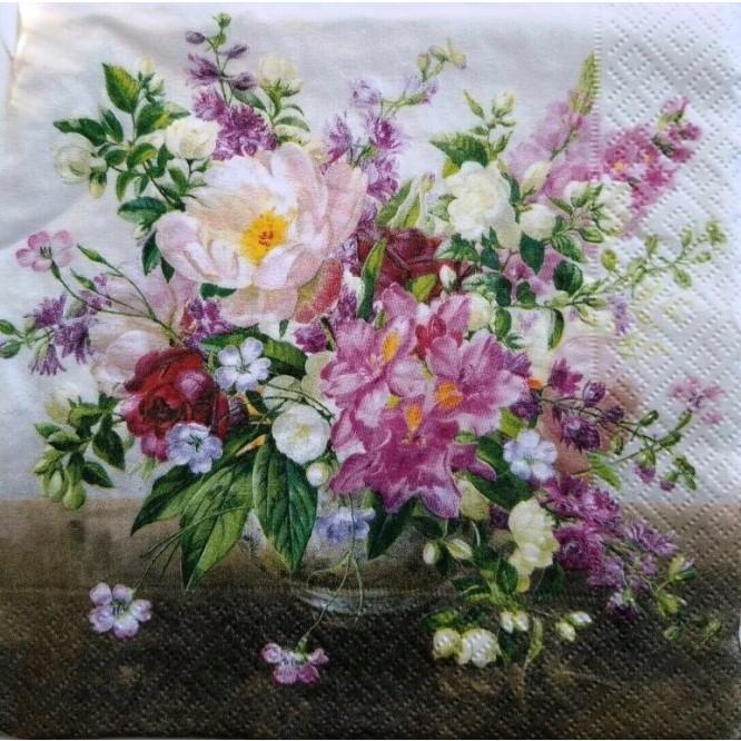 Χαρτοπετσέτα για Decoupage, Bouquet Natural / 414-BQN