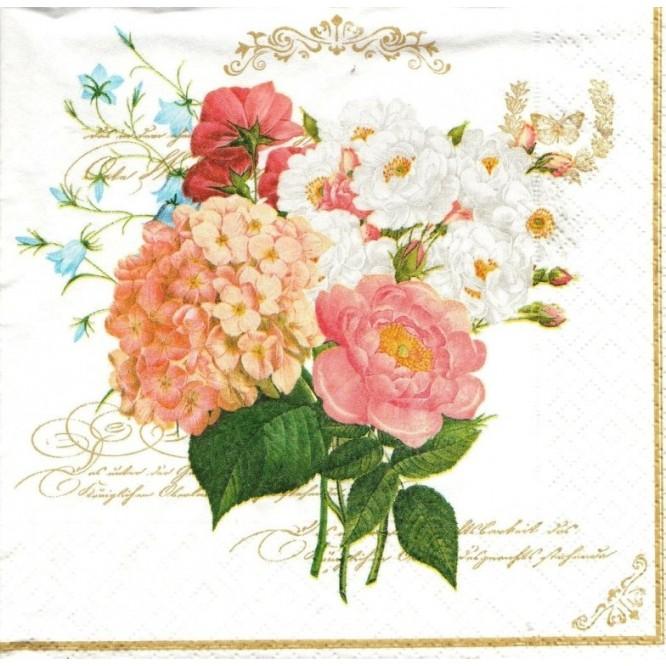 Χαρτοπετσέτα για Decoupage, Flowers Bouquet / 414-FBQ