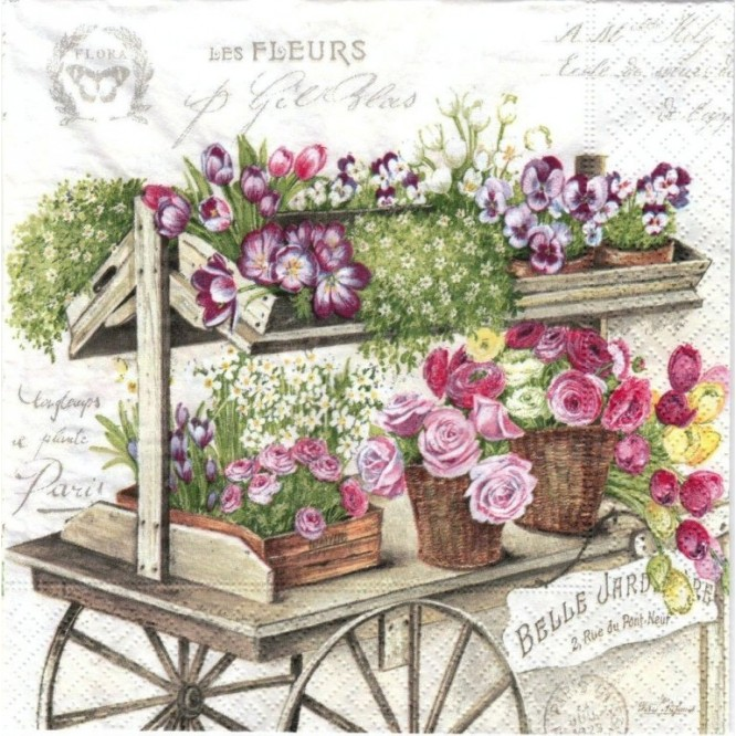 Χαρτοπετσέτα για Decoupage, Fleurs / 414-FLER