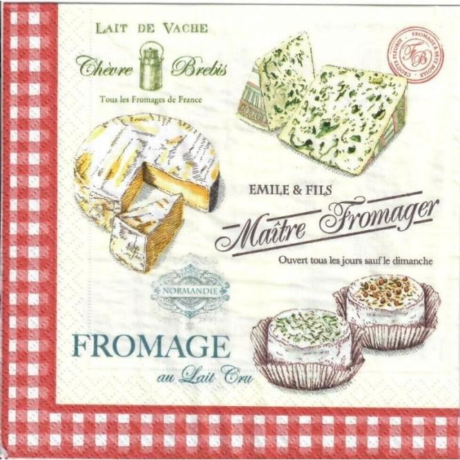 Χαρτοπετσέτα για Decoupage, Maitre Fromager / 414-MAFR
