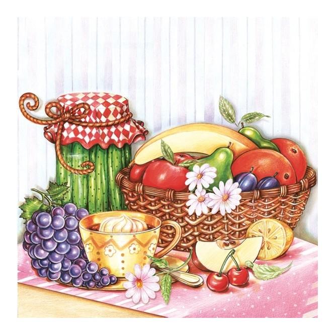 Χαρτοπετσέτα για Decoupage, Fruit basket / G-030301