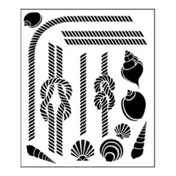 Στένσιλ (Stencil) Tommy Art 30x40cm, Hawser & Shell / STE022