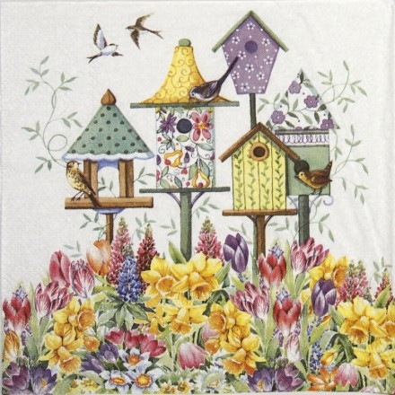 Χαρτοπετσέτα για Decoupage, Bird Box 25x25cm / 12507575